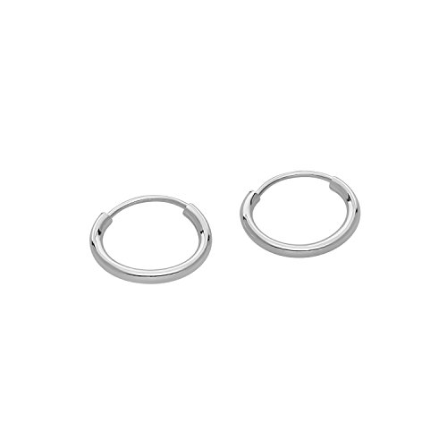 14k Gold Small Endless Hoop Earrings for Ears, Cartilage, Nose or Lips, (0.4