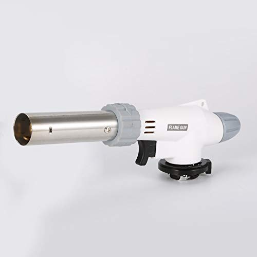 Bianco Silverkial Pistola a Fiamma Bruciatori a Gas Pistola Maker Accendino per Torcia Accensione piezoelettrica Lanciafiamme Torcia a Gas per Sopravvivenza allaperto Campeggio Picnic