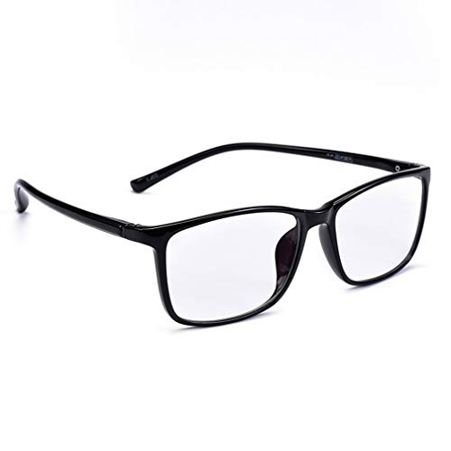 YiFeiGao Black Frame Reading Glasses,Men's Anti-Blue Glasses, Smart Zoom Reading Mirror,Suitable for Watching Computer/Mobile Phone, Spring Hinge (4-augen-gläser)