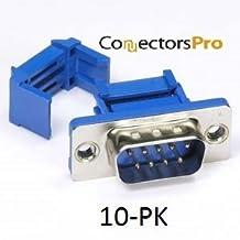 PC Accessories - IDC Flat Ribbon Crimp Connectors DB9 Male, 10-Pack