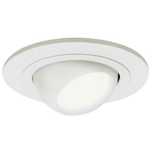 Halo Recessed 998P 4-Inch Trim Eyeball  PAR16 Lamp Trim with White Eyeball, (White Eyeball Recessed Light Trim)