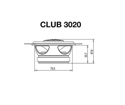 JBL Lautsprecher CLUB3020 120 W Koax 8,9 cm f/ür Fiat Punto 1 176 1993-1999