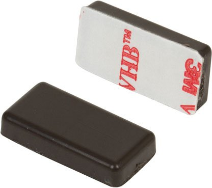 Nascom MN123787BP Overmolded Bar Magnet, 1/8' H x 3/8' W x 7/8' L (Pack of 25) 1/8 H x 3/8 W x 7/8 L (Pack of 25)