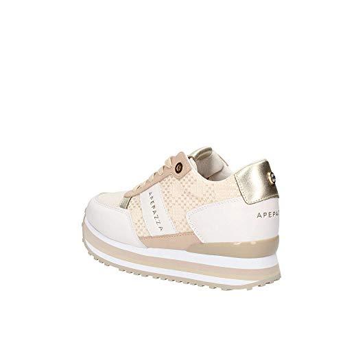 Sneakers nappa Blanco Mujer Rsd33 Apepazza qxw17