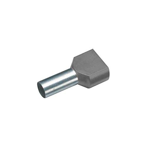 Embout double dextr/émit/é de c/âble Vogt Verbindungstechnik 460408D 1.5 mm/² 8 mm partiellement isol/é rouge 100 pc s