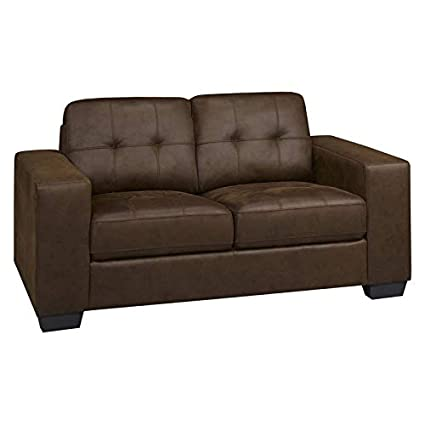Outstanding Amazon Com Brassex Skylar Tufted Love Seat In Brown Gmtry Best Dining Table And Chair Ideas Images Gmtryco