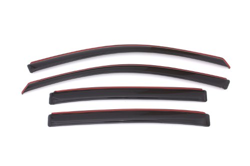 (Auto Ventshade 194535 In-Channel Ventvisor Side Window Deflector, 4-Piece Set for 2013-2017 Honda Accord)