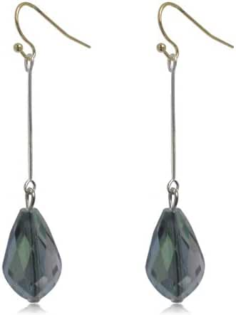 12MM Sterling Silver Plated Gradient Green Faceted Crystal Glass Bead Angel Tears Drop Earrings