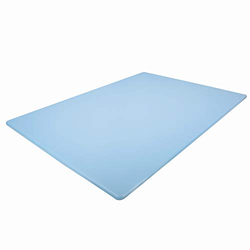 Commercial Blue Plastic Cutting Board Extra Large for Fish, 24 x 18 Inch - BPA Free
