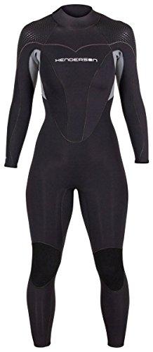 Henderson 3mm Neoprene Dive - Henderson Women's Thermoprene Pro Wetsuit 3mm Back Zip Fullsuit Black