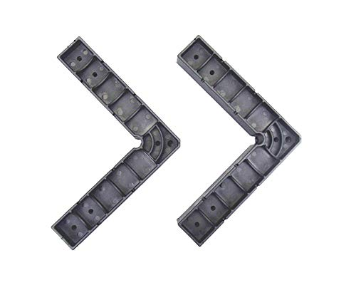90 Degree Positioning Squares Clamp-It Assembly Right Angle Square Black Pack of 2 (145mm) ()