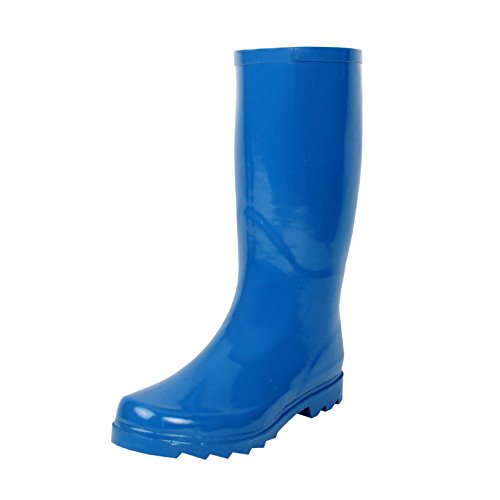 West Blvd Rainboots Boots, Blue Rubber, 7.5