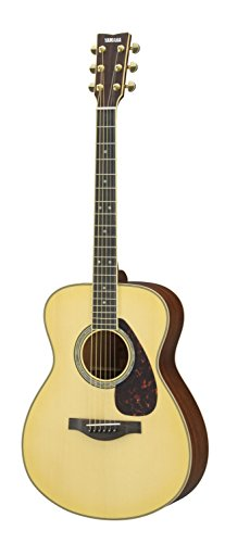 Yamaha L-Series LS16M Concert Size Acoustic-Electric Guitar with Gig Bag – Mahogany, Natural