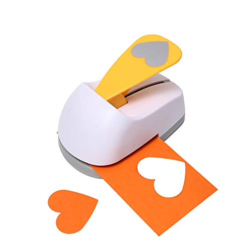Craft Lever Punch 2 inch Heart Punch DIY Handmade Paper Punch(White Heart)