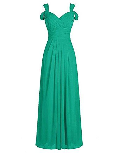 the Shoulder Evening Green Botong Off Burgundy Chiffon Long Gowns Bridesmaid Dress xZ07wq