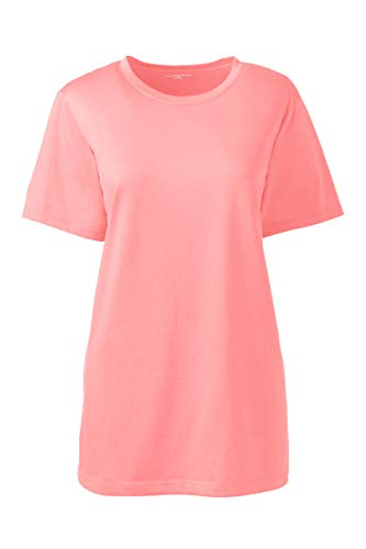 Lands' End Women's Petite Relaxed Fit Supima Cotton Crewneck Short Sleeve T-Shirt