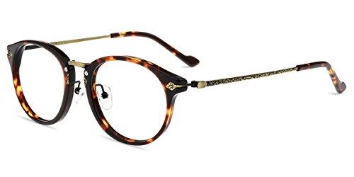 Firmoo-Original Classic Round Vintage Non-prescription Reader Eye Glasses,Blue Light Blocking,Cut UV400 Transparent Lenses by Firmoo