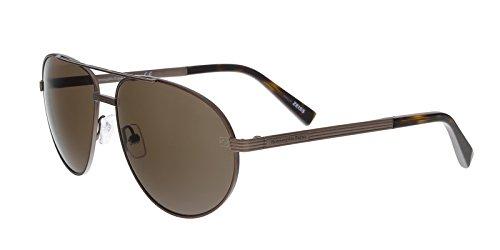 Ermenegildo Zegna EZ0030/S 37J Brown Aviator Sunglasses for sale  Delivered anywhere in USA