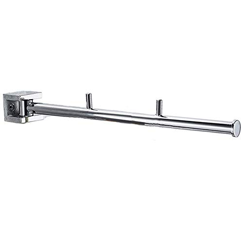 ATR Towel Holders Wall Mounted Towel Bar Towel Rack Towel Shelf Towel Stand Towel Rail Towel Stacker Storage Holder Rotatable Activity Copper GAOFENG (Color : Square seat-Single bar)