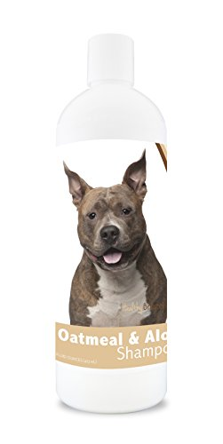 Healthy Breeds Dog Oatmeal Shampoo with Aloe for American Staffordshire Terrier - Over 75 Breeds - 16 oz - Mild and Gentle for Itchy, Scaling, Sensitive Skin - Hypoallergenic Formula and pH Balanced