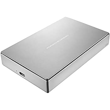 LaCie Porsche Design 4TB USB-C Mobile Hard Drive, Silver + 2mo Adobe CC Photography (STFD4000400)