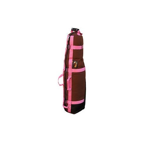 Club Glove Last Bag Collegiate Golf Travel Cover (Mocha/Pink) by Club Glove