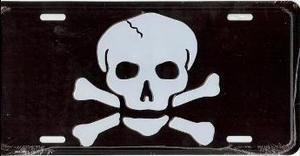 Skull and Crossbones License Plate