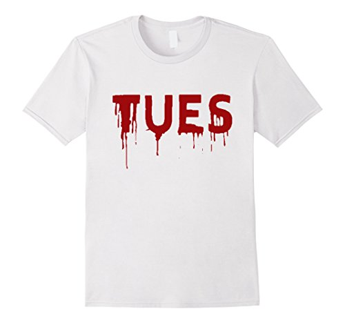 Shark Week Costume Group (Mens Tuesday T-Shirt | Days of the Week Group Costume | Shark Set Large White)