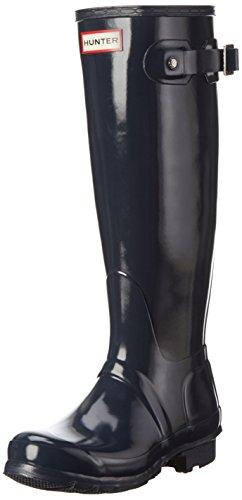 Hunters Original Tall Gloss WFT1000, Botas altas Mujer Azul marino