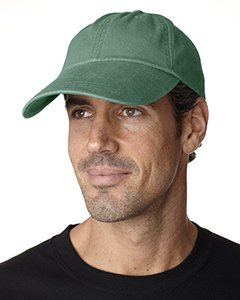 Adams Sunbuster Pigment Dyed Twill Cap With Extra Long Visor (Forest) (ALL)