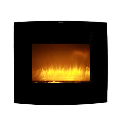 Cheap Caesar Fireplace WFP-26C 1500W Adjustable Temperature w/Remote Control 26-inch Wall Mount Electric Fireplace with Stone Pebbles and Flame Effect Black Black Friday & Cyber Monday 2019