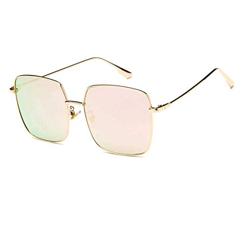 5850ded93a67 GAMT Oversized Sunglasses for Women Square Metal Frame Candy Colors Eyewear  gold Frame pink Lens
