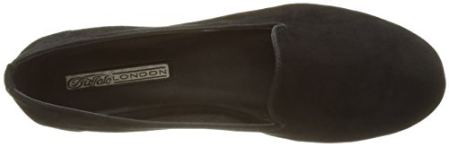 Ballerine Donna Buffalo Suede Nero London 3335 258 216 Kid Black w77XYAq