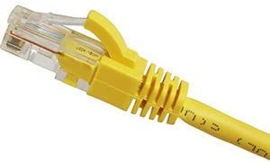 Cables UK 1m,Cat5e,SNAGLESS Network Cable,Patch,Lead,RJ45,YELLOW