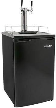 Amazon Com Edgestar Kc2000twin Full Size Dual Tap Kegerator Draft Beer Dispenser Black Kitchen Dining