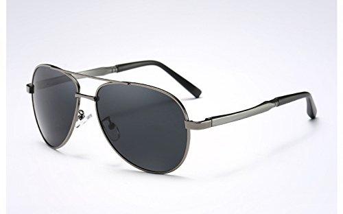 Gris de Ojos Negro gray de protegen gray Sol Deportivas TL Gafas Revestimiento Sunglasses Sol Gafas los polarizadas400 UV PzZxSfwWqF