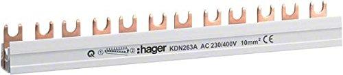 Hager KDN263B - Puente union bipolar 56 mó dulos