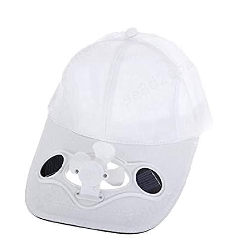 SALAKA 1PC Sombrero Deportivo Blanco con Gorras de Ventilador ...