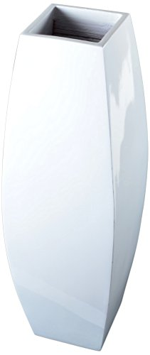 Lerman Decor Bamboo Taper Vase, White
