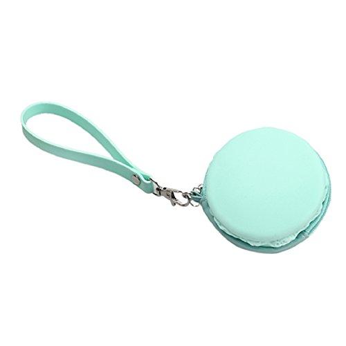 Sannysis Nette Macaron Silikon-Münzen-Beutel Wasserdichte Beutel-Geldbeutel (grün)