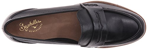 Black Flat Leather Tigers Ballet Women's Eye Seychelles vSqO1O