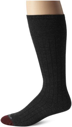 Allen Edmonds Men's Merino Wool Blend Over-The-Calf Socks, Charcoal, X-Sock Size:10-13/Shoe Size: 6-12/Standard from Allen Edmonds