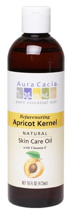 - Aura Cacia Natural Skin Care Oil, Rejuvenating Apricot Kernel with Vitamin E, 16 Fluid Ounce