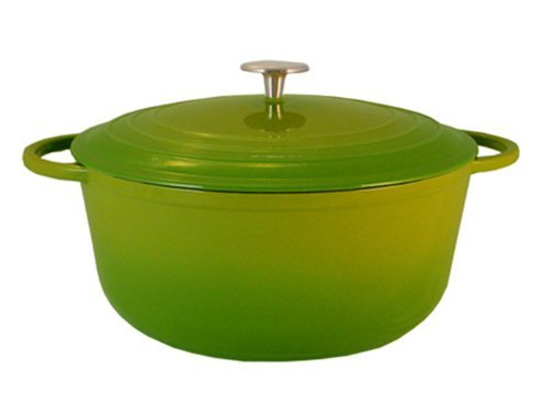 Le Chef Enamel Cast Iron Round Dutch Oven 7-Qt.Palm.