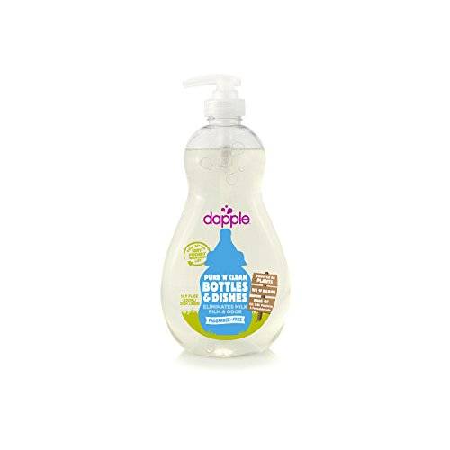 Dapple Baby Bottle and Dish Liquid, Fragrance Free, 16.9 Fluid Ounce