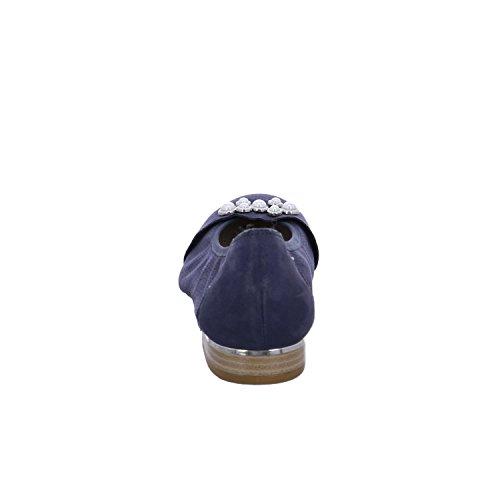 Women's Caprice Ballet Toe Closed 22115 Flats Blue Dark v1wq17