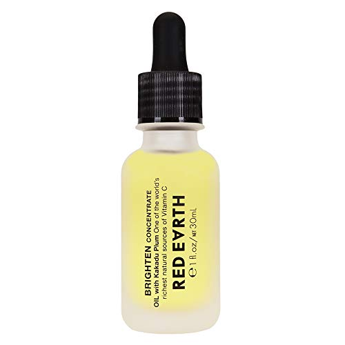 Brighten Concentrate Face Oil by Red Earth - Brightening Kakadu Plum Extract Vitamin C Oil For Face - Anti Aging Antioxidant Facial Oil for Luminous Skin - 1.05 fl oz / 30ml