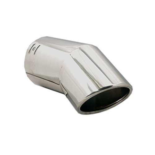 Car Muffler Tip - Stainless Steel to give Chrome Effect - To Fit 2 to 3 inch Exhaust Pipe Diameter - Installation Clamps Included by TriTrust ()