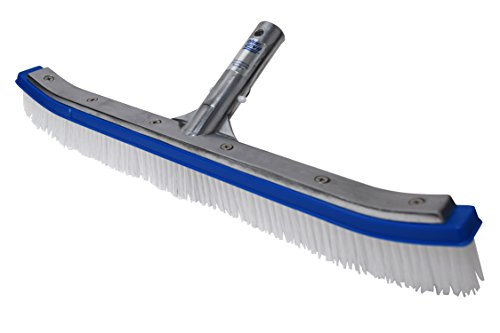 Blue Devil B3518 Wall Brush Deluxe, 18-Inch (Pool Brush Nylon)
