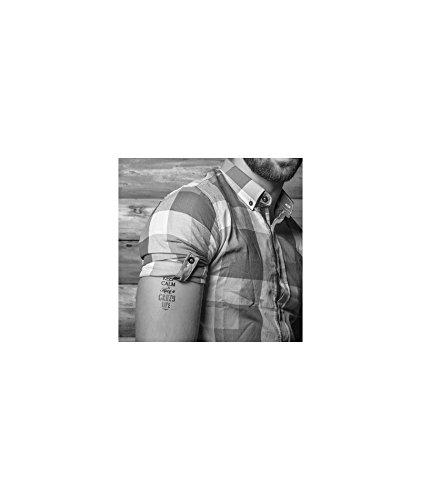 Tatuaje efímero hombre, diseño Keep Calm: Amazon.es: Belleza